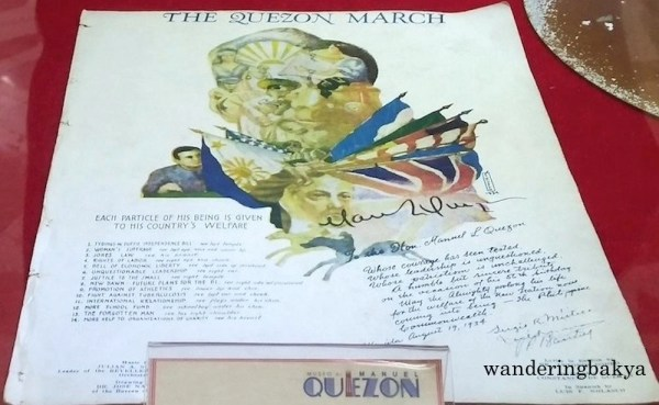Quezon March is a printed musical composition by Julian Silverio.