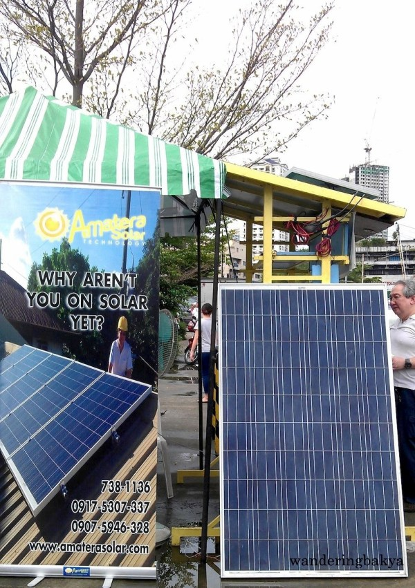 The first thing that caught my attention was this solar panel. I was surprised to find one on a weekend market.