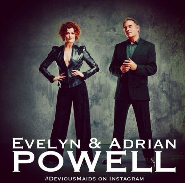 Devious Maids' power couple, Evelyn (Rebecca Wisocky) and Adrian Powell (Tom Irwin). Photo from pinterest.com