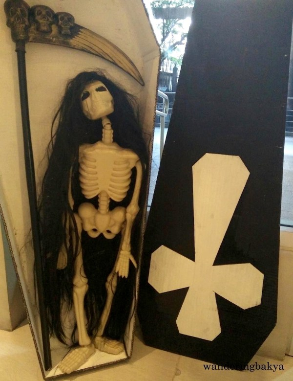 This skeleton of a woman greeted every resident and visitor at the main entrance. She is our new doorwoman.