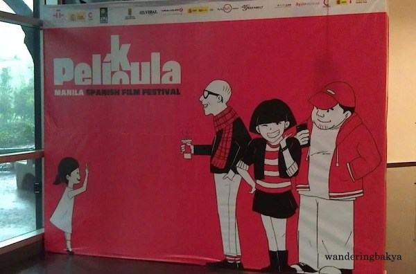 The Pelikula/Película: Manila Spanish Film Festival 2016 photo wall near the main door of Ayala Museum.