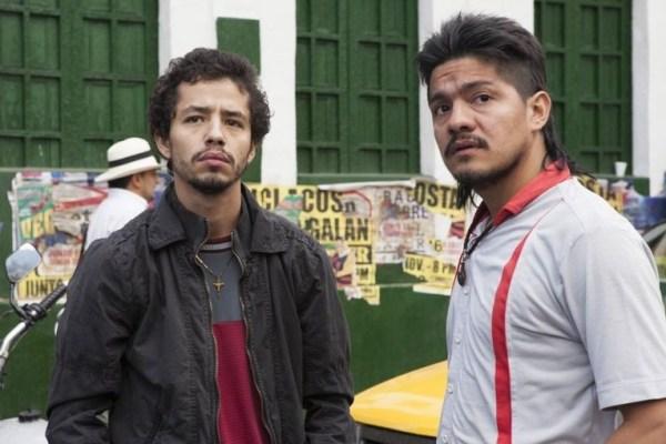 "Narcos' Juan Diego ""La Quica"" Díaz (Diego Castaño) and Limón (Leynar Gomez). Photo from ign.com"