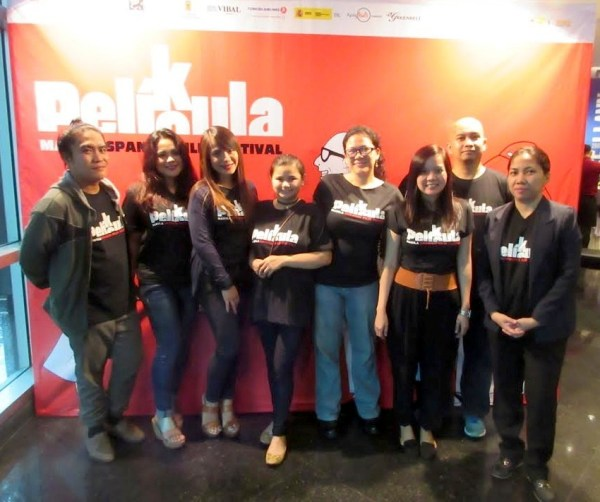 Some of the volunteers at the opening night of Pelikula/Película: Manila Spanish Film Festival 2016 . Photo by Camille. Check out Camille's site, Freespanishshortfilms.com.