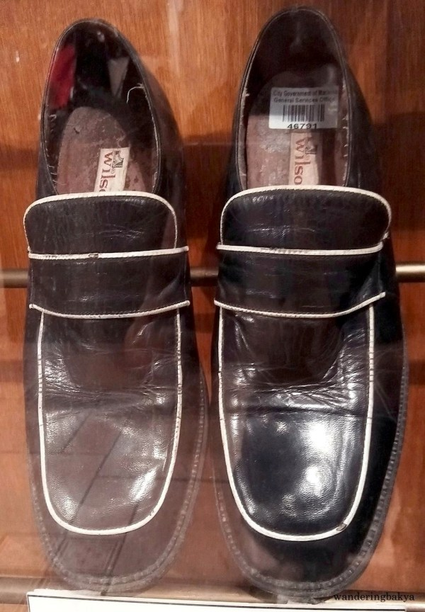 Shoes of Ballad Singer Jeffrey Hidalgo
