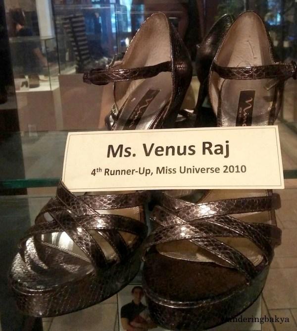 Shoes of Miss Universe 2010 4th Runner Up Maria Venus Bayonito Raj
