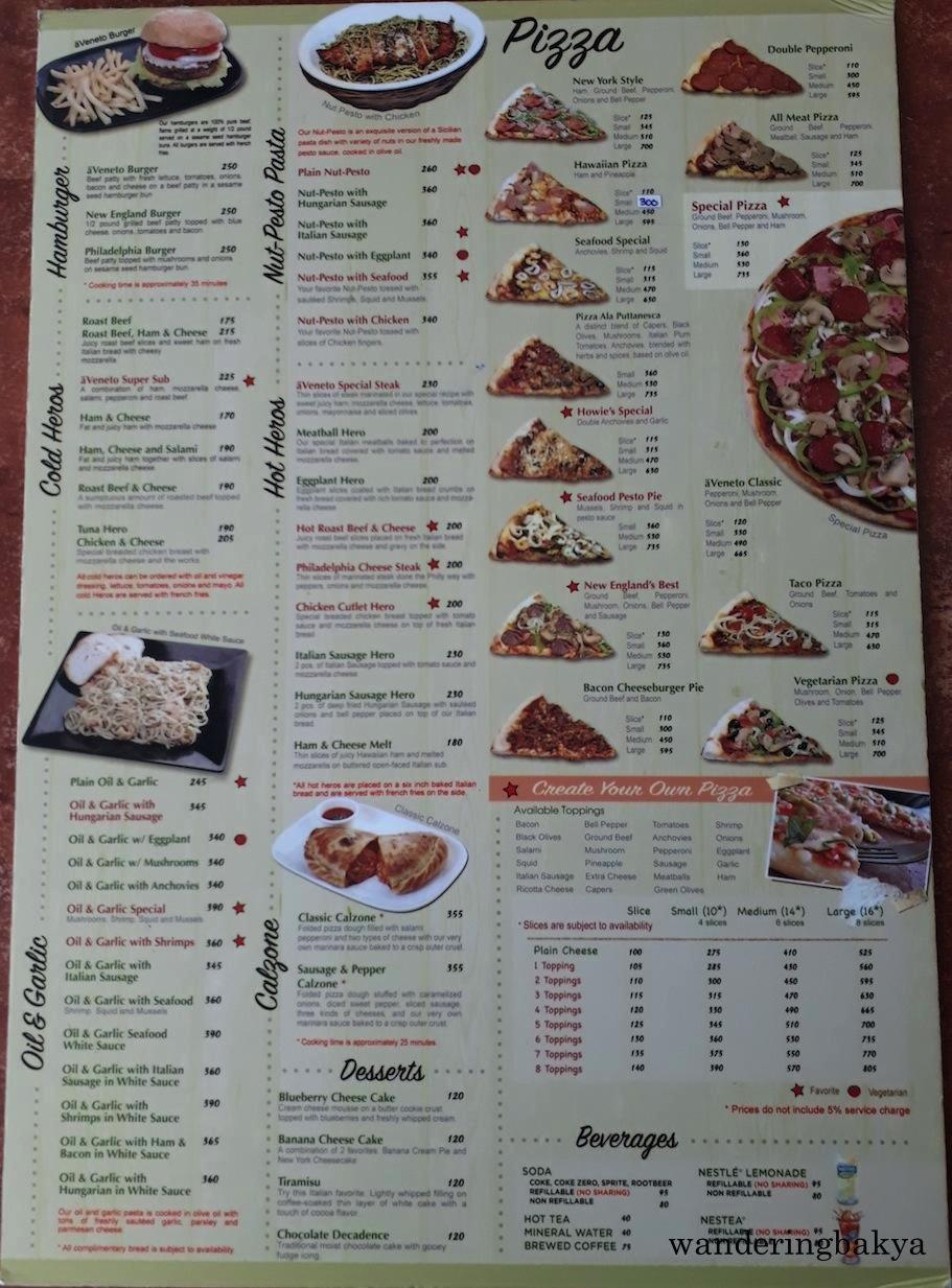 A Veneto Pizzeria Ristorante Glorietta 3 Wandering Bakya