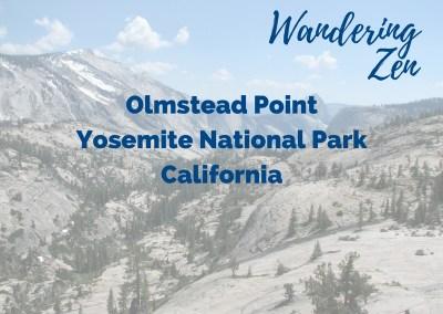 Wandering Zen – Olmstead Point