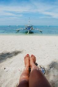 April: Beach time at Malapascua