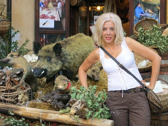 Wandering Carol in Norcia, Italy