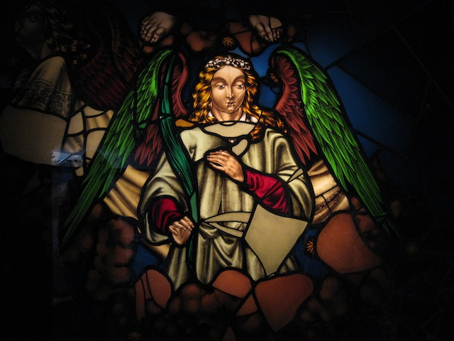 Montreal stained glass mysteries, angel