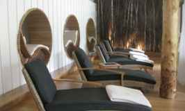 Deck chairs at Monart Spa in Ireland