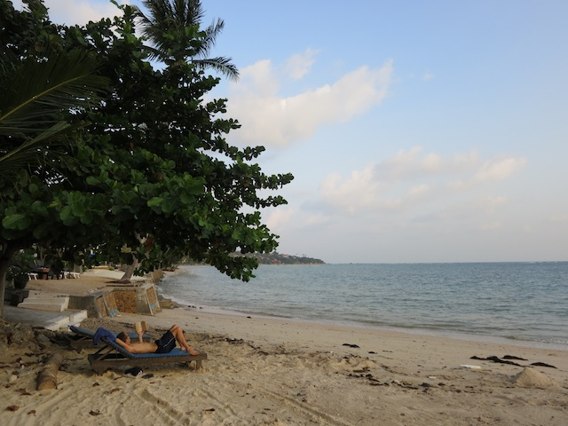 Soul searching in Thailand, relaxing beach