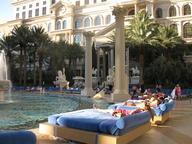 Poolside at Caesar's