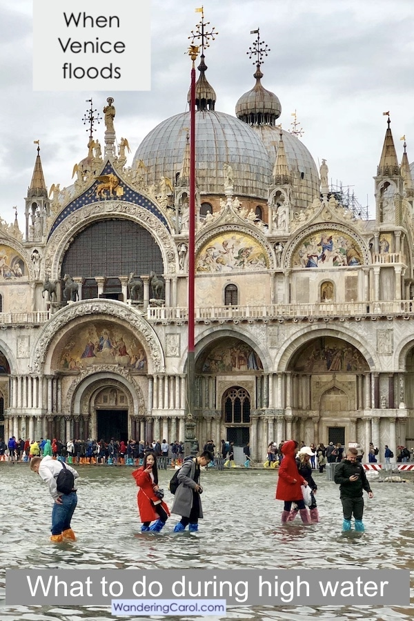 What to do during high water in Venice: Don\'t despair, if Venice flooding is predicted and you\'re worried the aqua alta will ruin your trip, here is how to make it an adventure.