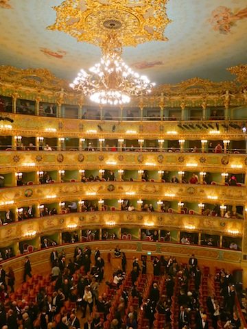 When it rains in Venice go to La Fenice
