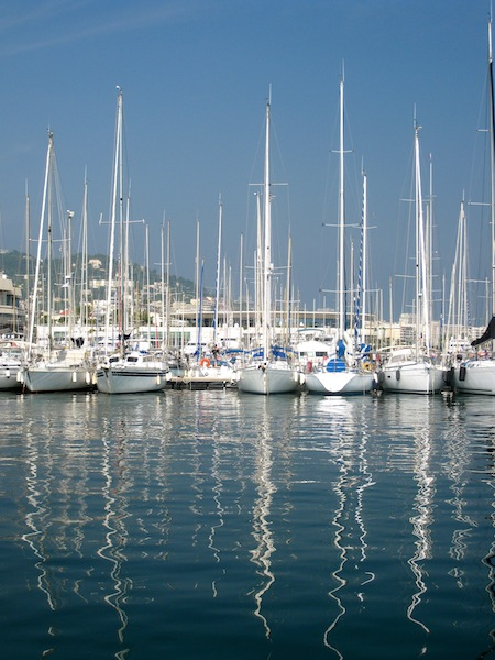 Boats in Cannes in the South of France