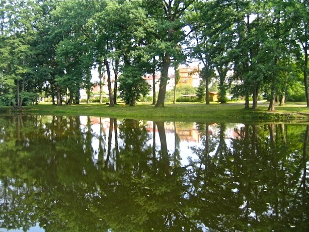 Spa park in Frantiskovy Lazne Bohemia