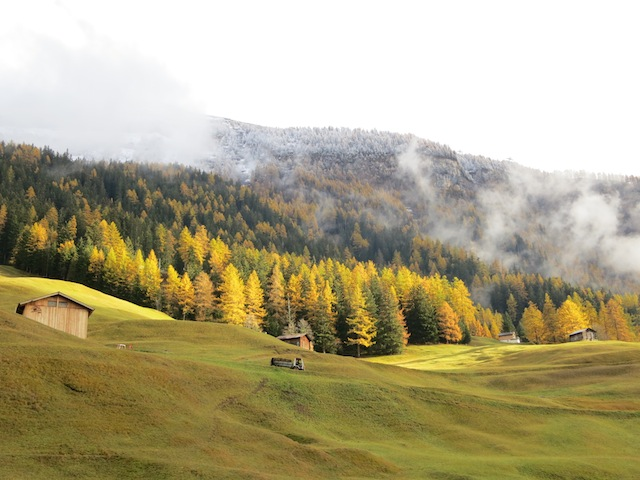 Mountain view of Switzerland in fall