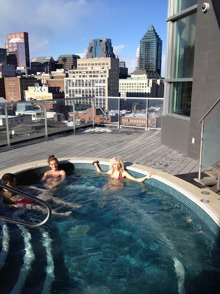 Jacuzzi at Hotel Le Crystal Montreal