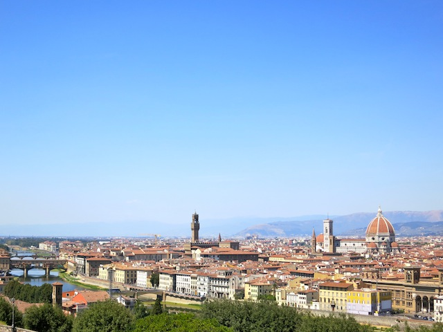 Great view of Florence from Piazzale Michelangelo
