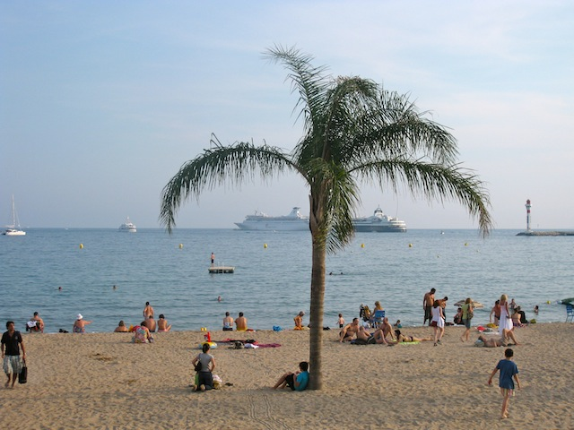 Beach in Cannes France