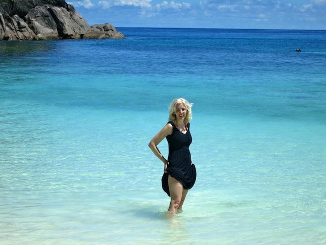 Carol Perehudoff beach in Seychelles Mahe Island