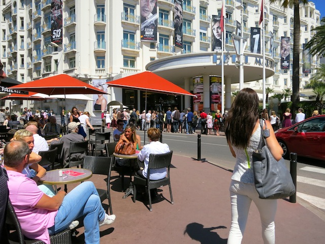 Waiting for celebrities in Cannes Majestic Hotel