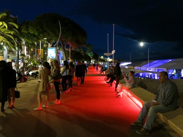 Promenade de la Croisette during Cannes Film Festival opening night
