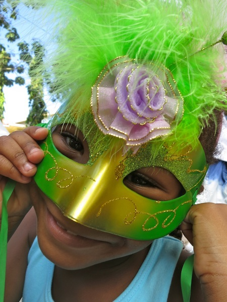 Seychelles Carnival little girl