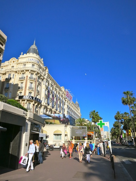 Carlton Hotel in Cannes South of France