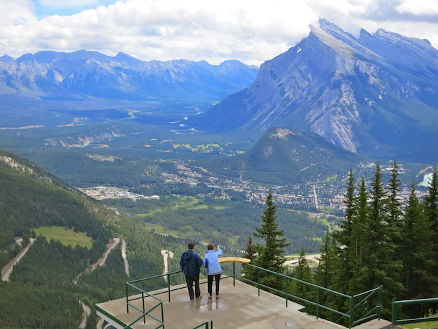 View of Banff from Mt Norquay in Canada