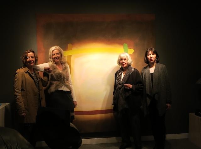 Art trip to Edmonton Perehudoff painting with Perehudoff family