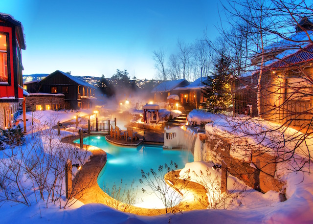 Best winter spa resorts Ontario, Scandinave Spa Blue Mountain