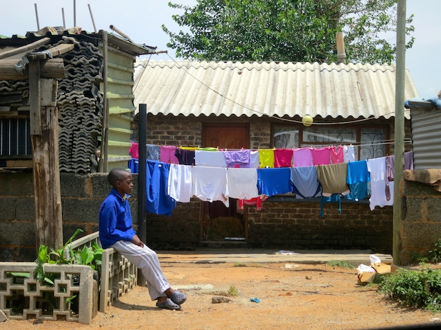 One day in Johannesburg, boy in Soweto