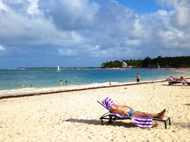 Tropical island beach at Paradisus Palma Real, Dominican Republci