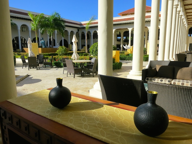 Courtyard at the Paradisus Palma Real, a luxury tropical island resort, Dominican Republic