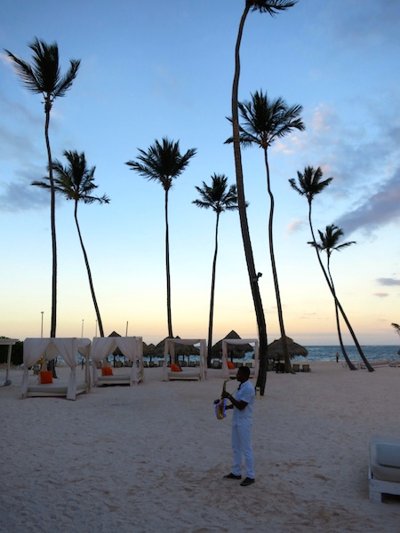 Paradisus Palma Real tropical island luxury, a Dominican Republic sunset
