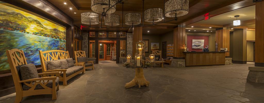 Nita Lake Lodge in Whistler Creekside review, lobby