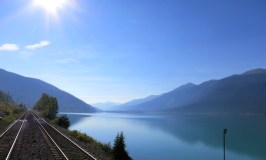 Romantic train ride, Rainforest to Goldrush route, beautiful landscape