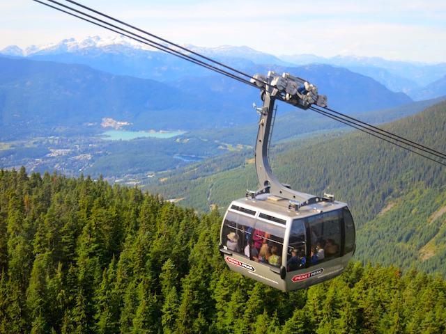 Peak to Peak Whistler Gondola silver car