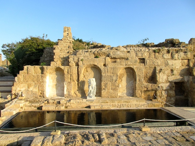 Caesarea in Israel, statues