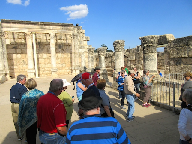 Trip to the Holy Land, synagogue at Capernaum
