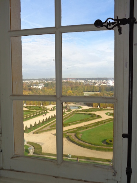 Visiting Versailles, View from 3rd floor on private tour