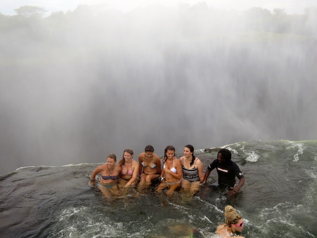 Extreme adventure vacations Victoria Falls Devil's Pool