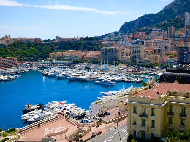 View of the harbour in Monte Carlo