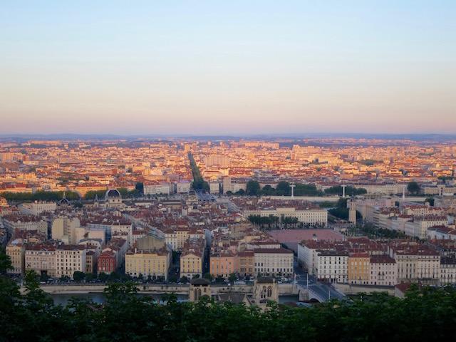 Lyon, France, city view