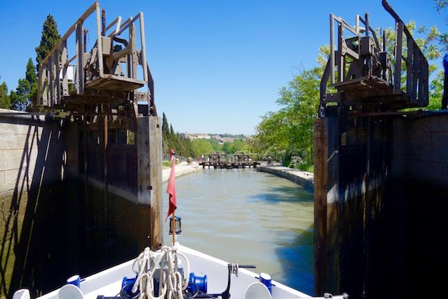 Canal du Midi cruise Staircase Locks