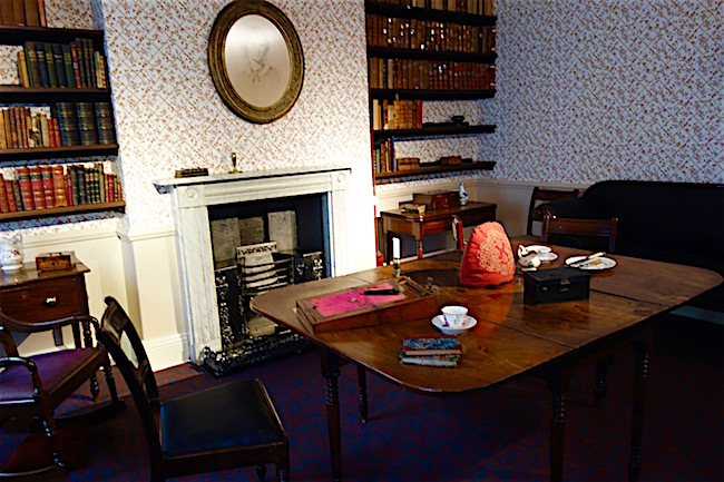 Bronte Parsonage Museum table Haworth England