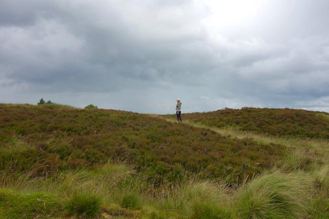 Bronte sisters walk near Haworth