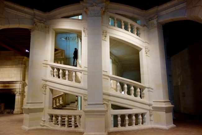 Double staircase of Chateau de Chambord France